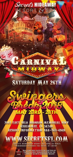 This week at Secrets Hideaway... It's SWINGERS BREAK 2