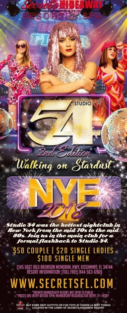 It's our NYE Studio 54: 2nd Edition - Walking on Stard