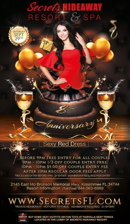 HAPPY 8th ANNIVERSARY Secrets Hideaway!!!
