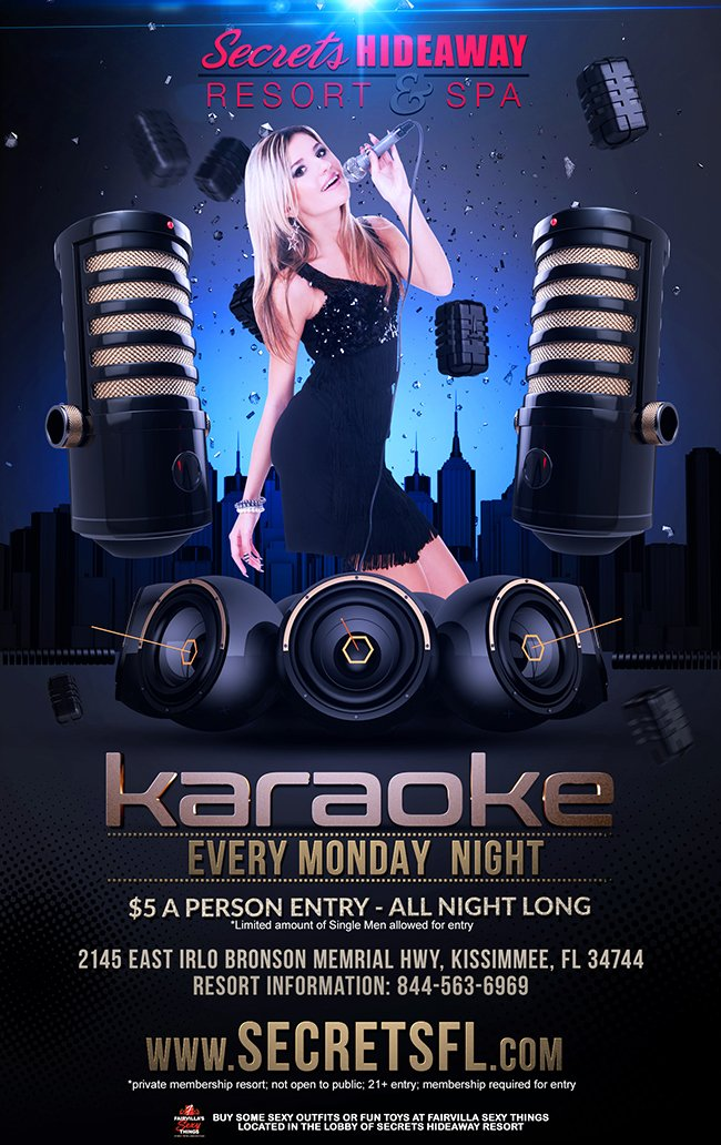 Events - Karaoke Monday Orlando, Florida Lifestyle and Swinger Parties