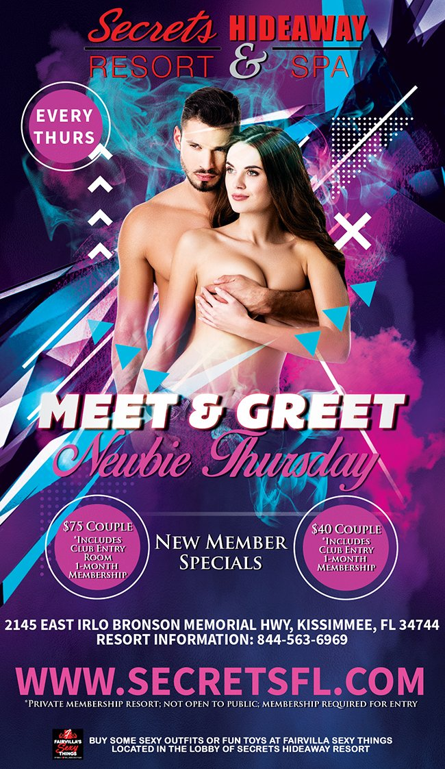 Events - Meet & Greet Newbie Night Orlando, Florida Lifestyle and Swinger Parties
