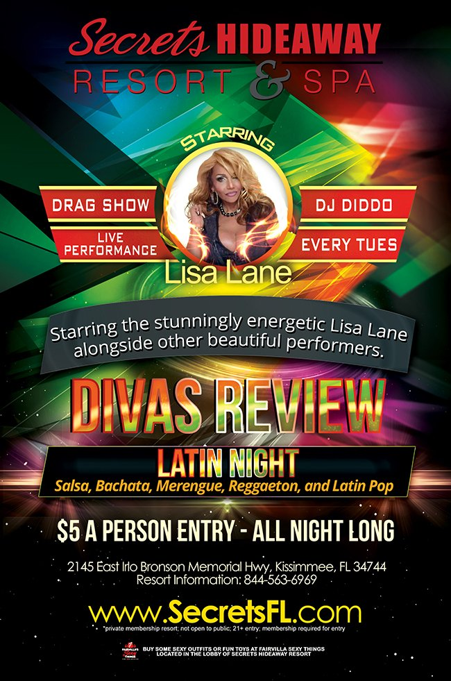 Events - Divas Review Latin Night Orlando, Florida Lifestyle and Swinger Parties