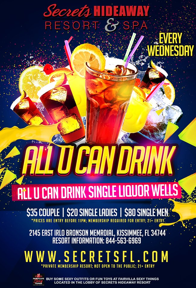 Events - All U Can Drink Orlando, Florida Lifestyle and Swinger Parties