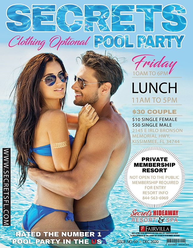 Events - Friday Pool Party 10am-5pm Orlando, Florida Lifestyle and Swinger Parties