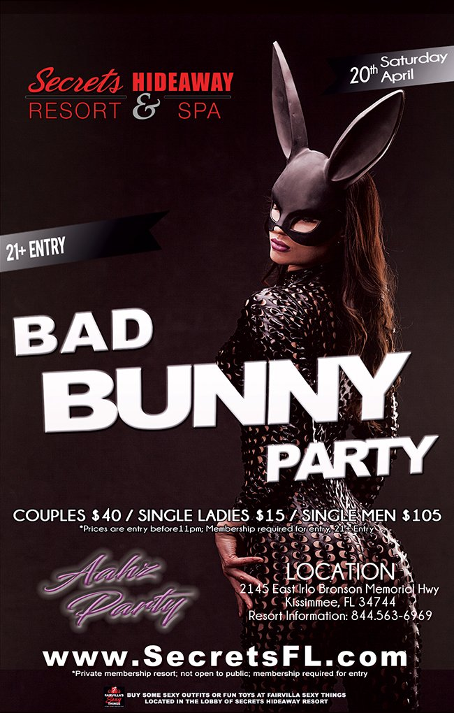 Events - Aahz Bad Bunny Orlando, Florida Lifestyle and Swinger Parties