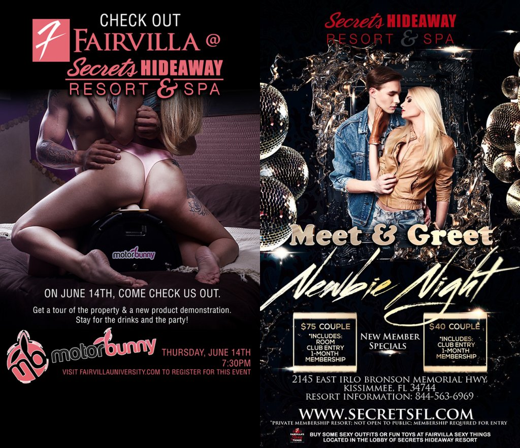 Events - Meet & Greet Newbie Night with Fairvilla Sexy Things Orlando, Florida Lifestyle and Swinger Parties
