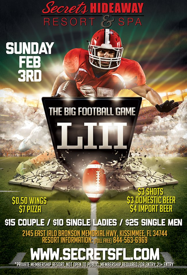 Events - The Big Game Come As U Are Orlando, Florida Lifestyle and Swinger Parties