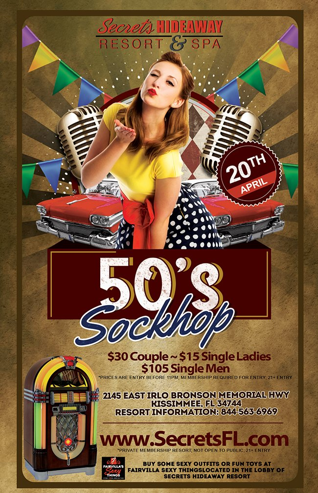 Events - 50's Sockhop Orlando, Florida Lifestyle and Swinger Parties