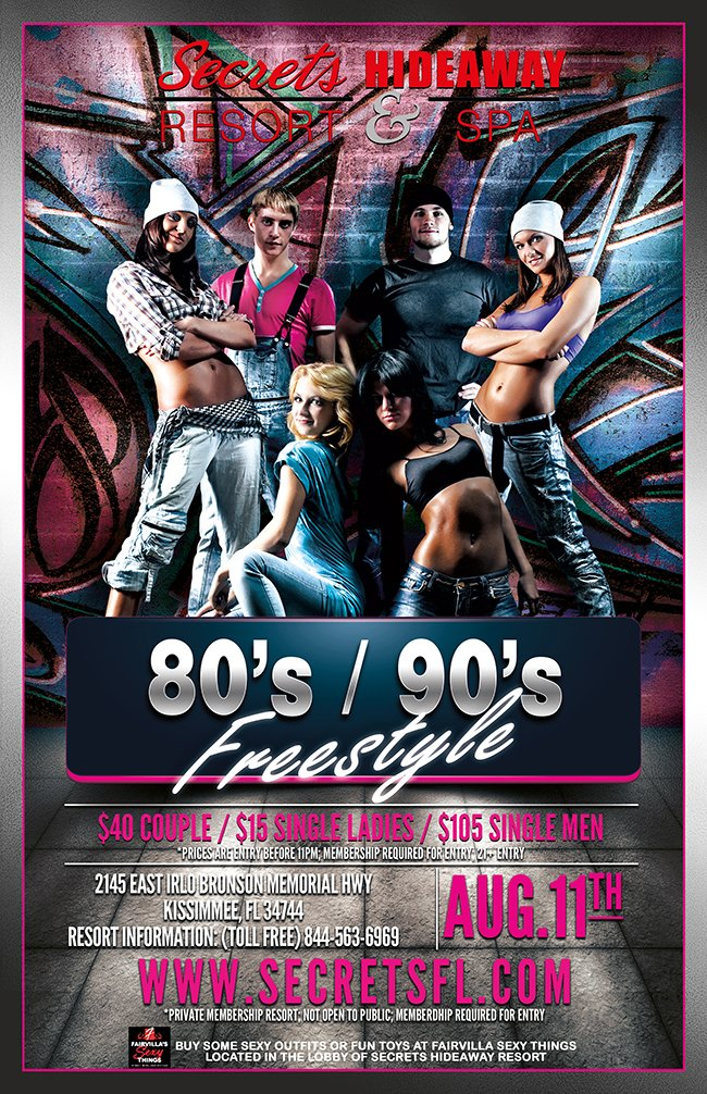Events - 80's / 90's / Freestyle Orlando, Florida Lifestyle and Swinger Parties
