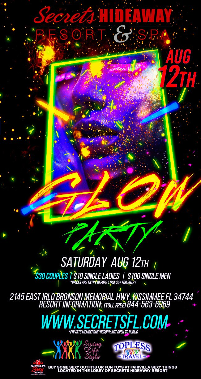 Events - Glow Party Orlando, Florida Lifestyle and Swinger Parties