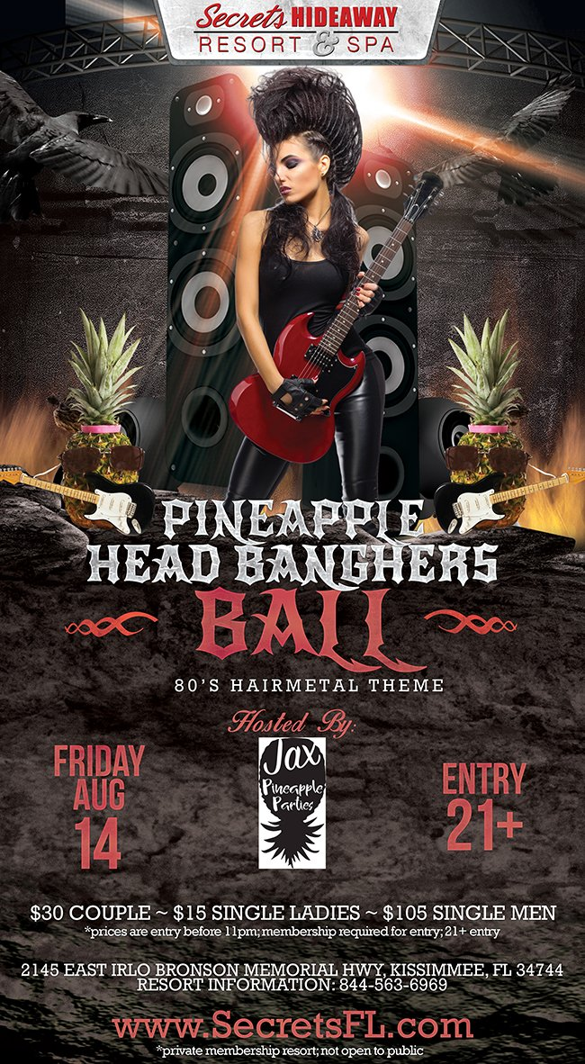 Events - Head BangHers Ball - Jax Pineapple Parties Orlando, Florida Lifestyle and Swinger Parties
