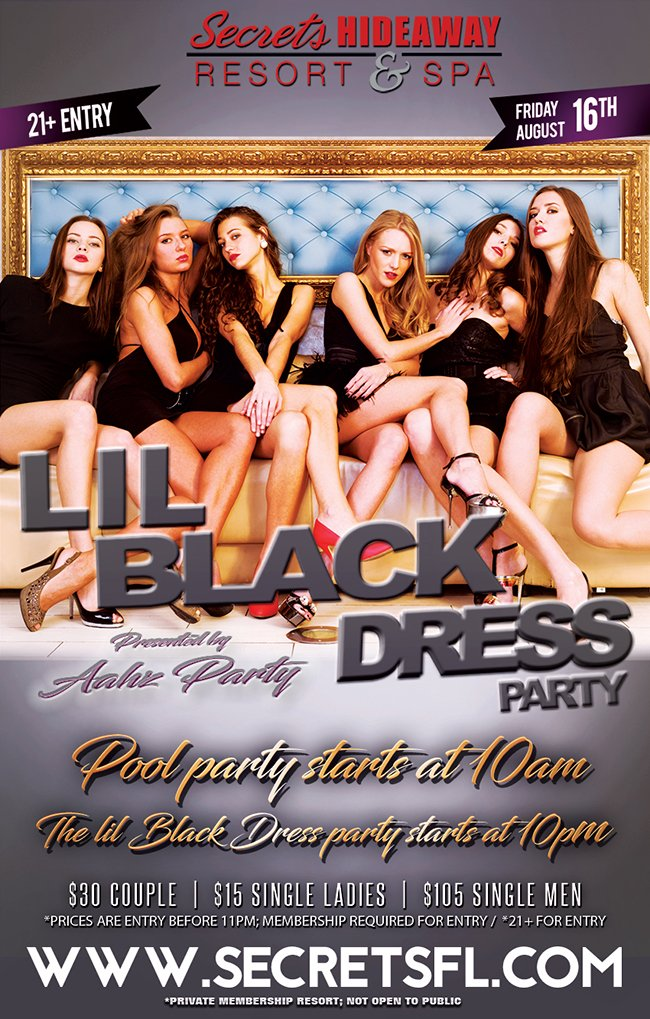 Events - Little Black Dress - Aahz Party Orlando, Florida Lifestyle and Swinger Parties