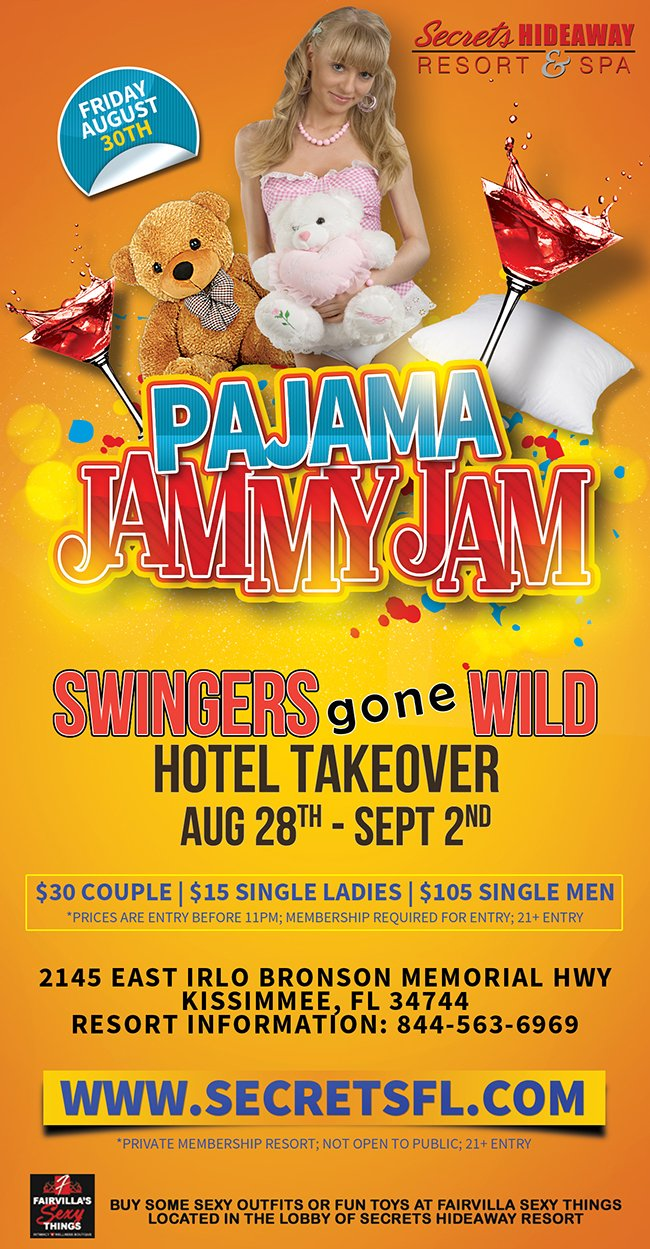 Events - Pajama Jam - Swingers Gone Wild Takeover Orlando, Florida Lifestyle and Swinger Parties