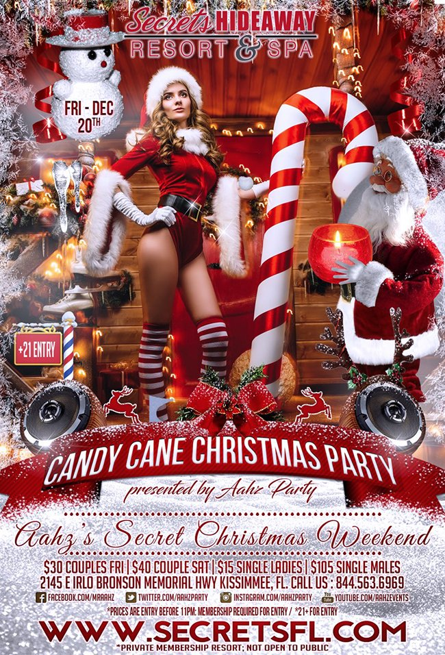 Events - Aahz Sexy Candy Cane Orlando, Florida Lifestyle and Swinger Parties