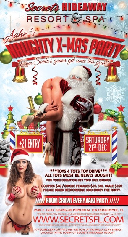 Events - Aahz Naughty Xmas Orlando, Florida Lifestyle and Swinger Parties
