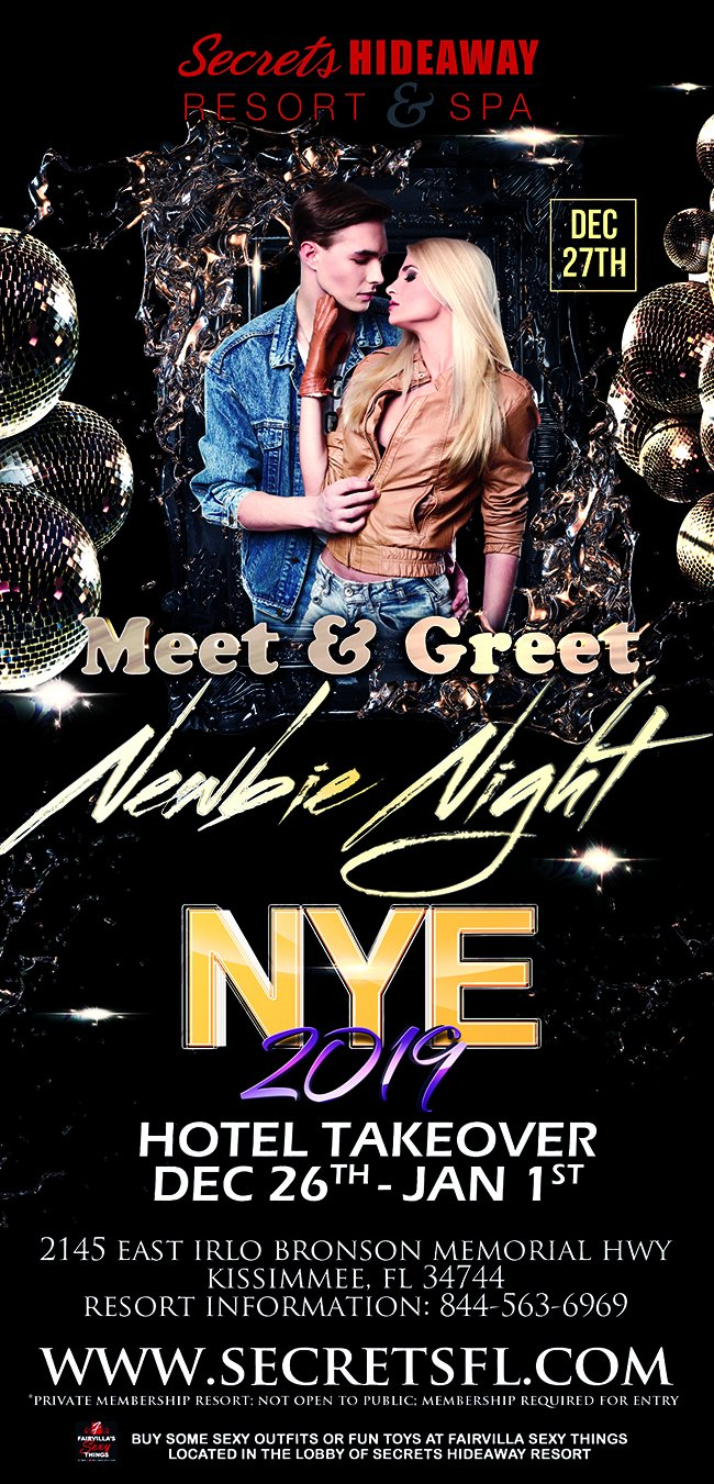 Events - Newbie Meet & Greet - NYE Hotel Takeover Orlando, Florida Lifestyle and Swinger Parties