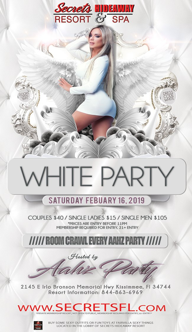 Events - Aahz White Party Orlando, Florida Lifestyle and Swinger Parties
