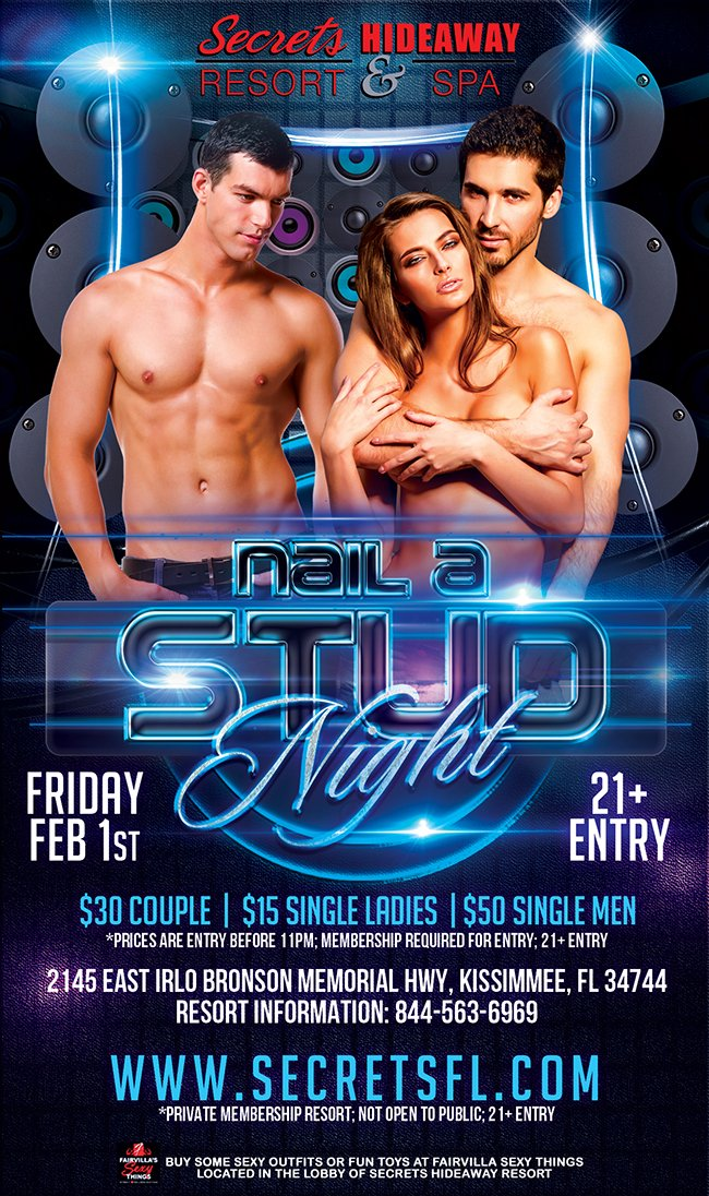 Events - Nail A Stud Orlando, Florida Lifestyle and Swinger Parties