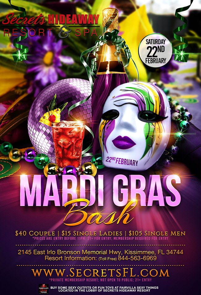 Events - Mardi Gras Orlando, Florida Lifestyle and Swinger Parties