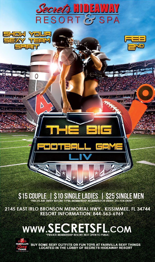 Events - The Big Game Orlando, Florida Lifestyle and Swinger Parties