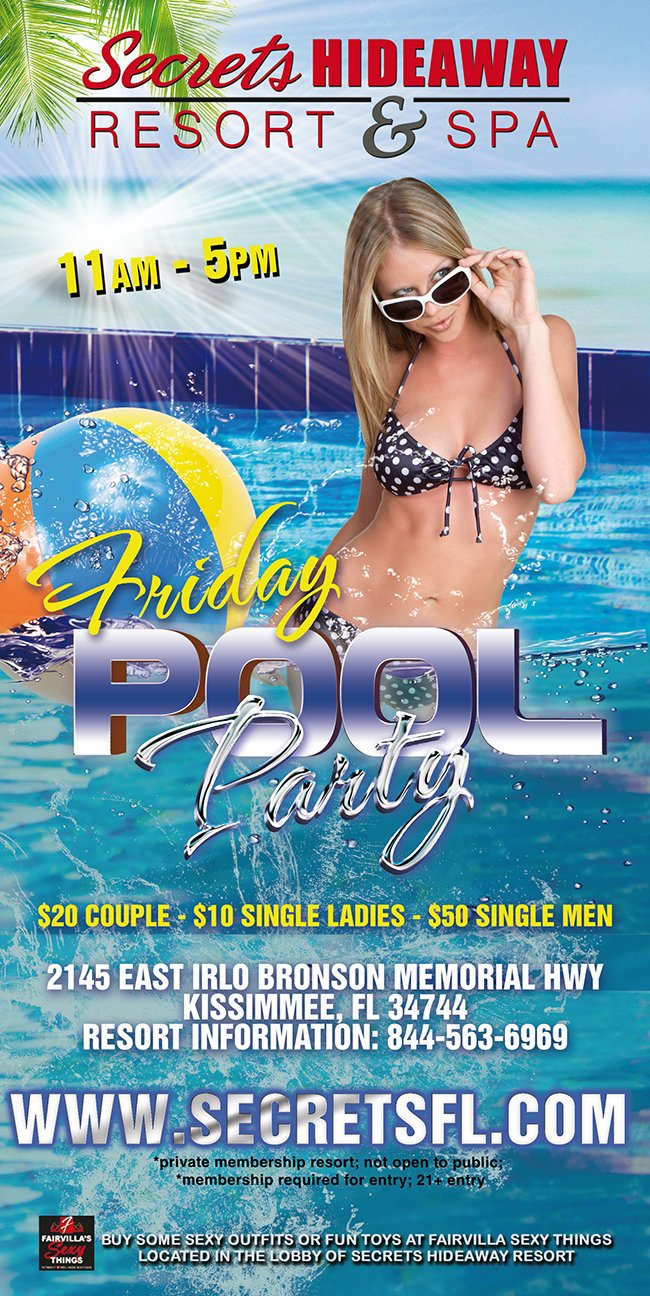 Events - Friday Pool Party 11am-5pm Orlando, Florida Lifestyle and Swinger Parties