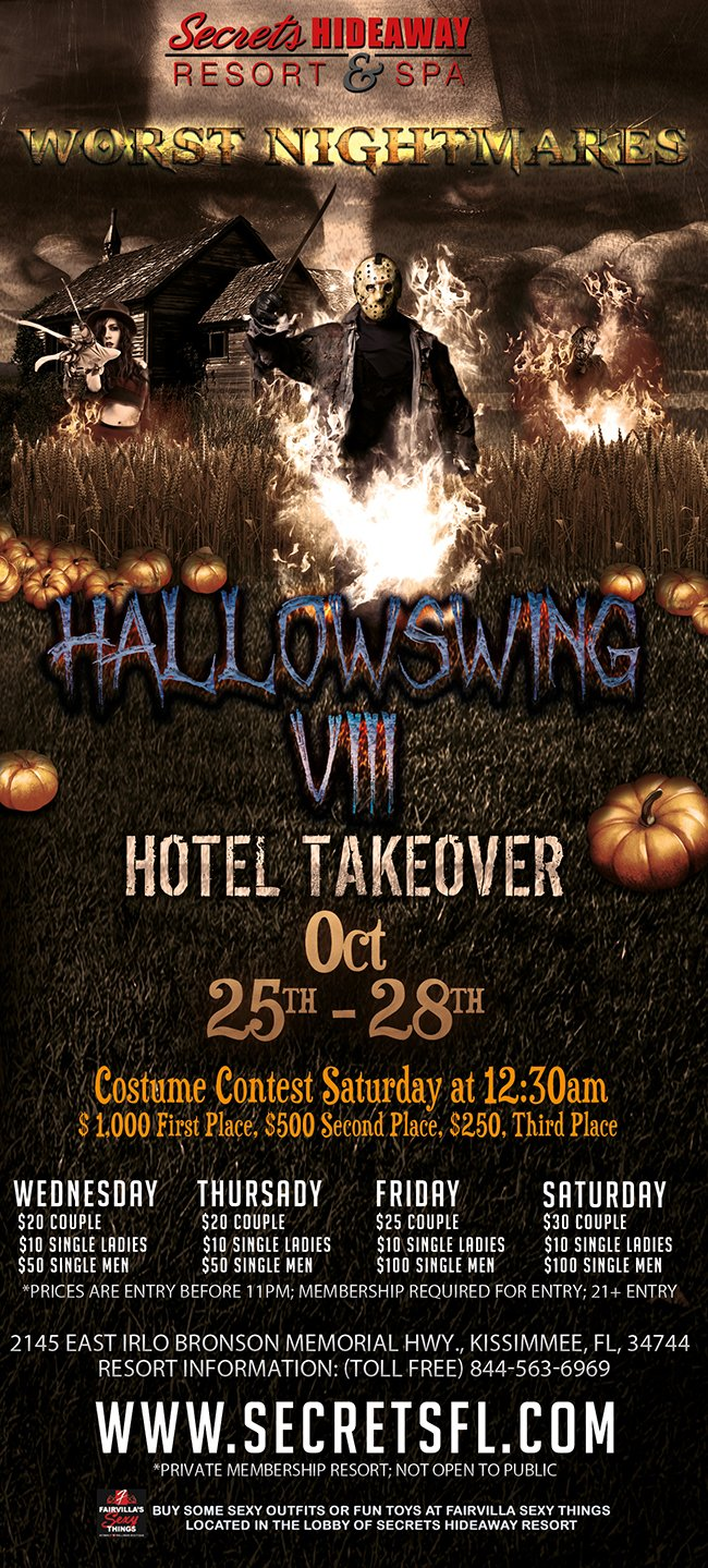 Events Hallowswing Viii Hotel Takeover Orlando Florida