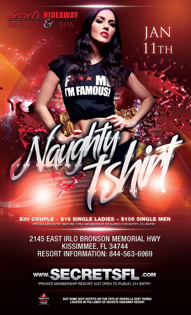 Events - Naughty T-Shirt Orlando, Florida Lifestyle and Swinger Parties