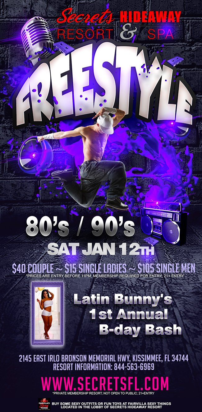 Events - Freestyle 80's/90's Orlando, Florida Lifestyle and Swinger Parties