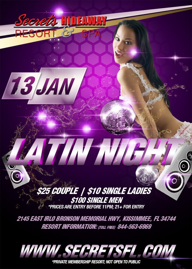 Events - Latin Night Orlando, Florida Lifestyle and Swinger Parties