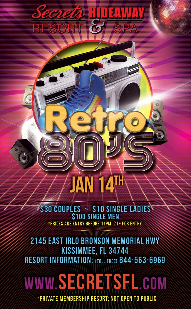 Events - Retro 80's Orlando, Florida Lifestyle and Swinger Parties
