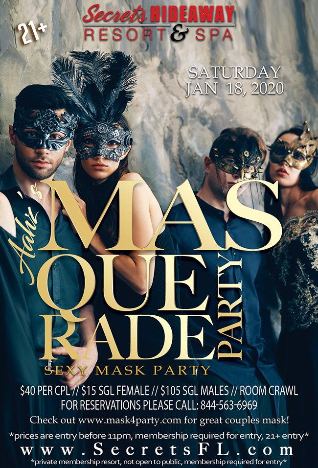 Events - Aahz Naughty Masquerade Orlando, Florida Lifestyle and Swinger Parties