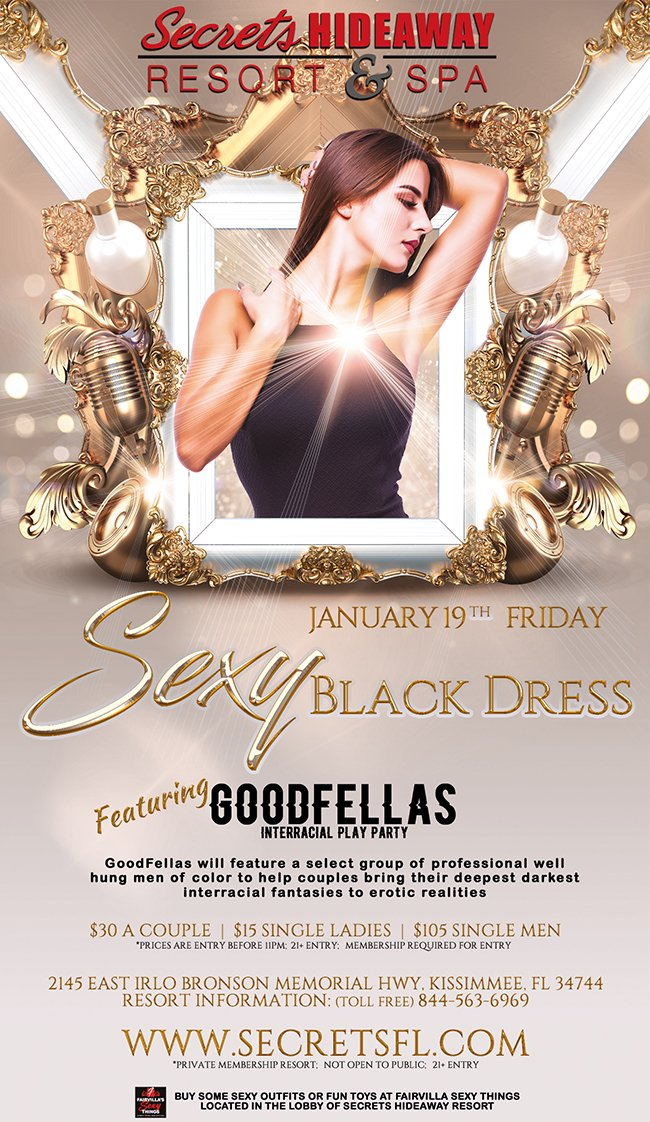 Events - Sexy Black Dress Orlando, Florida Lifestyle and Swinger Parties
