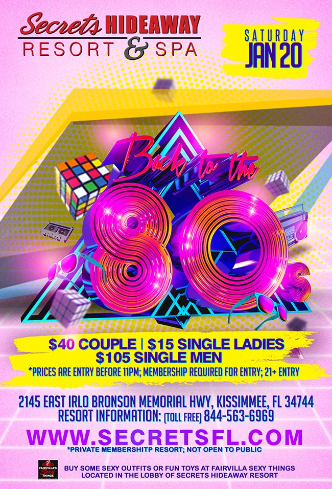 Events - 80's Night Orlando, Florida Lifestyle and Swinger Parties