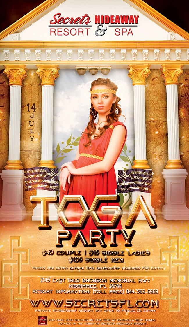Events - Toga Party Orlando, Florida Lifestyle and Swinger Parties