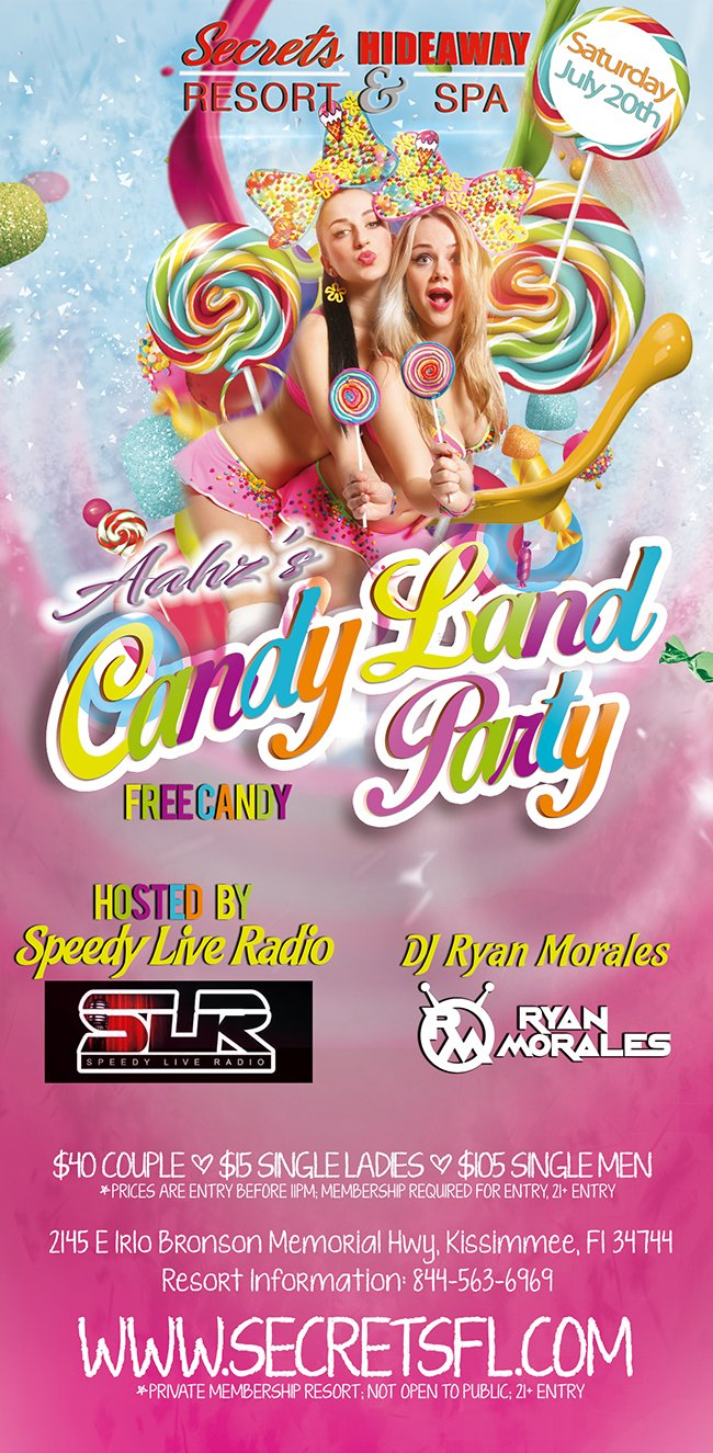 Events - Aahz Candy Land Orlando, Florida Lifestyle and Swinger Parties