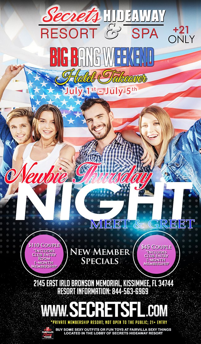 Events - Meet & Greet Newbie Night - Big Bang Takeover Orlando, Florida Lifestyle and Swinger Parties