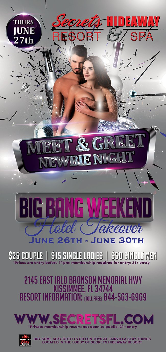Events - Meet & Greet Newbie -  Big Bang Takeover Orlando, Florida Lifestyle and Swinger Parties