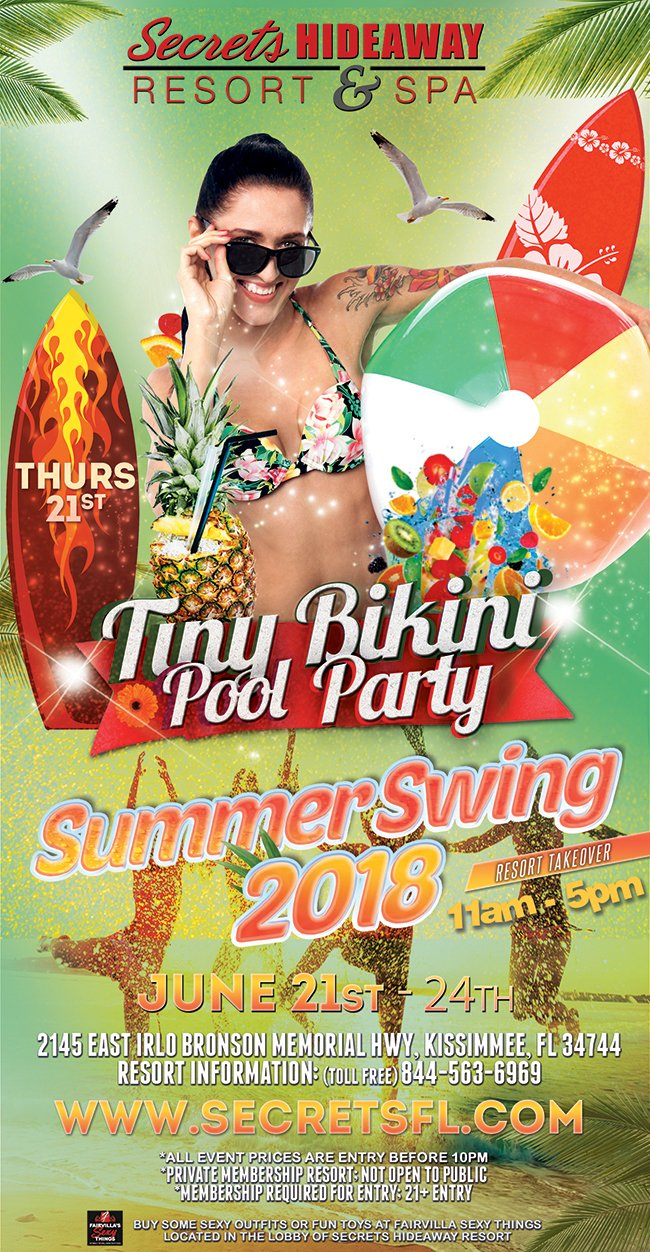 Events - Tiny Bikini Pool Party 11am - 5pm Orlando, Florida Lifestyle and Swinger Parties