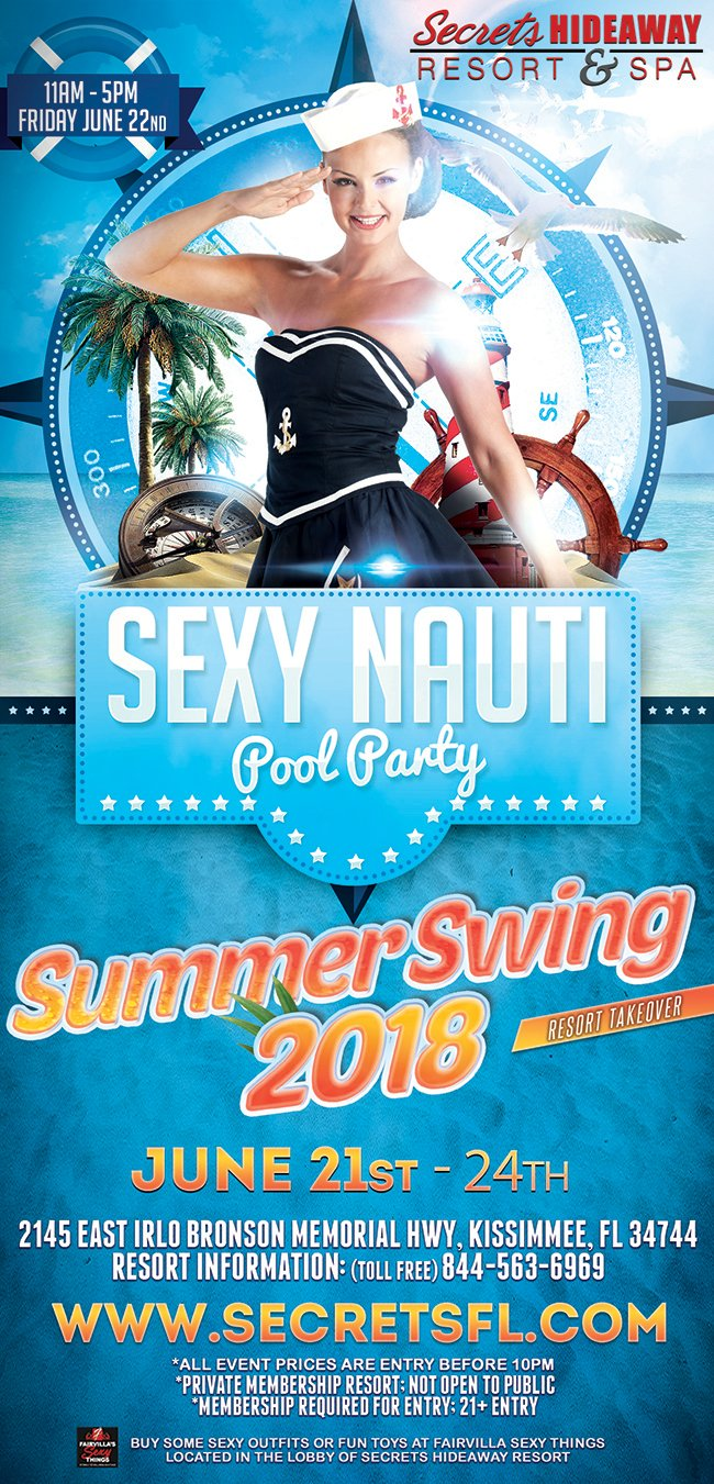 Events - Sexy Nauti Pool Party 11am - 5pm Orlando, Florida Lifestyle and Swinger Parties