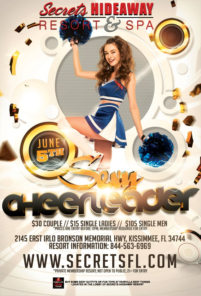 Events - Sexy Cheerleader Orlando, Florida Lifestyle and Swinger Parties