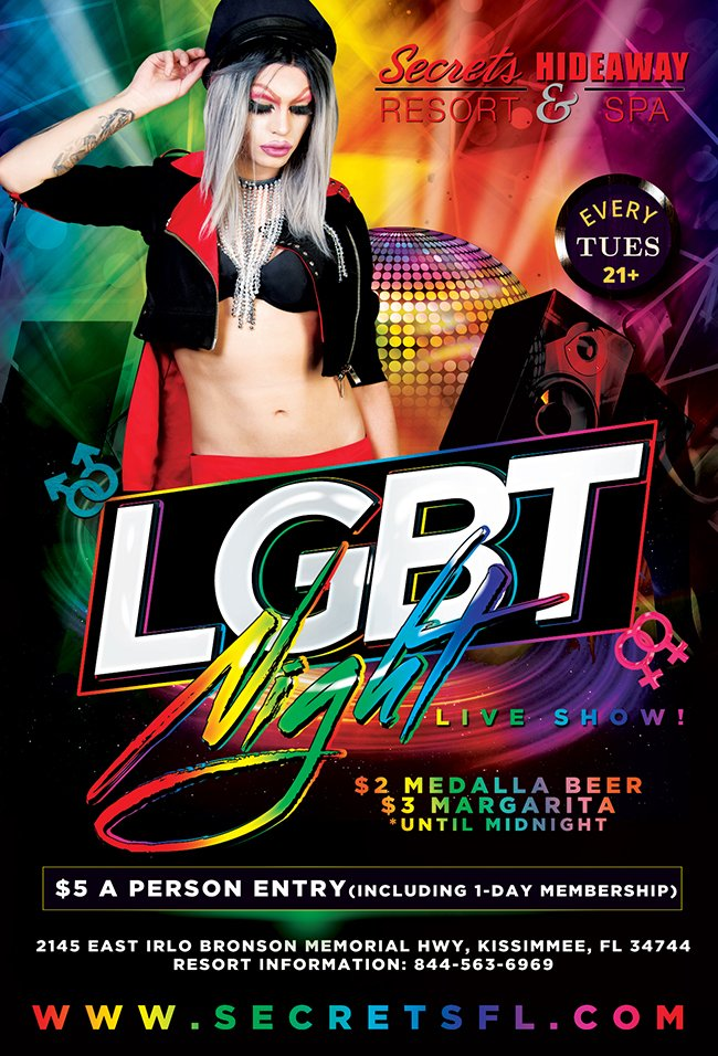 Events - LGBT Night - Live Show Orlando, Florida Lifestyle and Swinger Parties