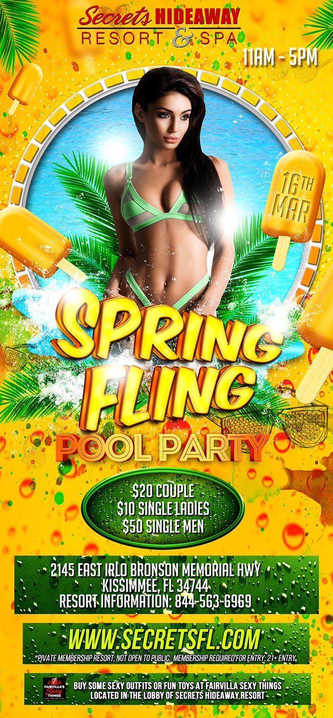 Events - Saturday Pool Party 11am - 5pm - Spring Fling Orlando, Florida Lifestyle and Swinger Parties