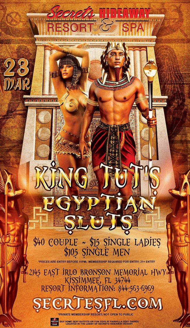 Events - King Tuts & Egyptian Sluts Orlando, Florida Lifestyle and Swinger Parties