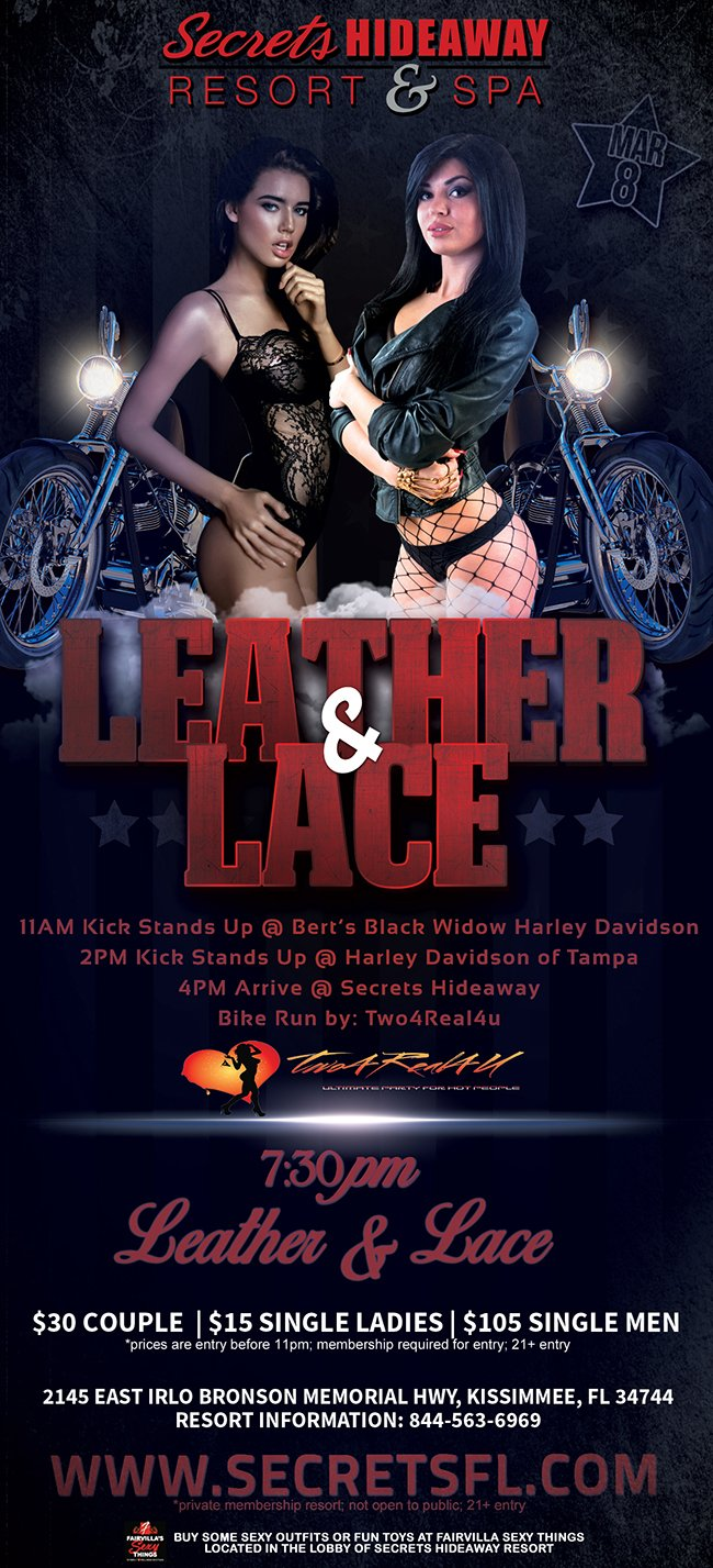 Events - Leather & Lace Orlando, Florida Lifestyle and Swinger Parties