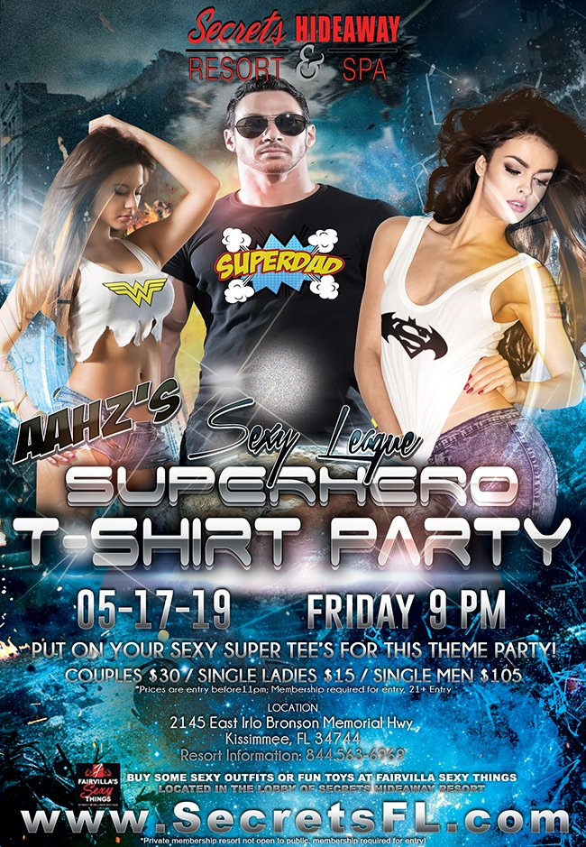 Events - Aahz Party - Superhero Tee's Orlando, Florida Lifestyle and Swinger Parties