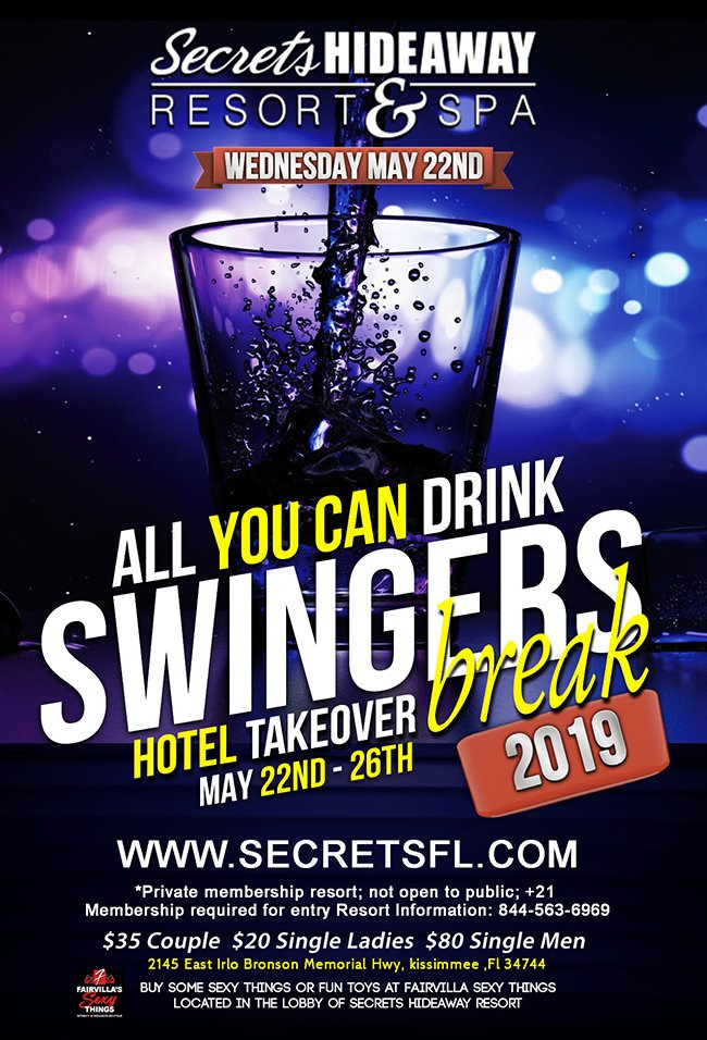 Events - All U Can Drink - Swingers Break Orlando, Florida Lifestyle and Swinger Parties