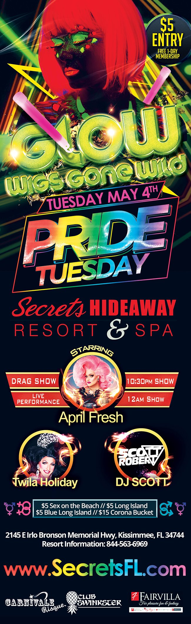 Events - Pride Tuesday Orlando, Florida Lifestyle and Swinger Parties