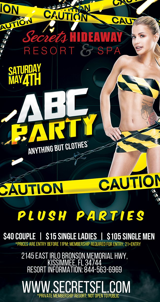 Events - ABC Party - Sun Splash Takeover Orlando, Florida Lifestyle and Swinger Parties