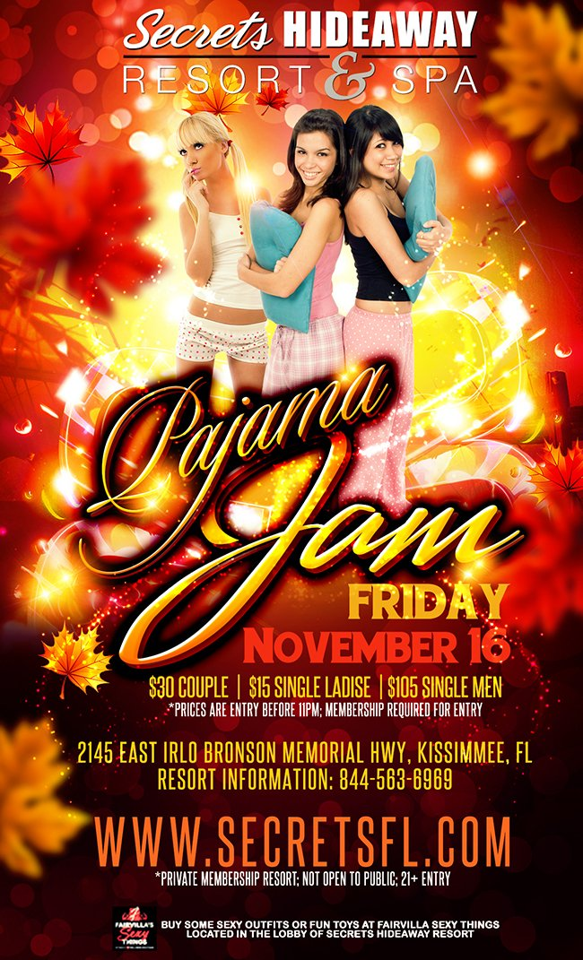Events - Pajama Jam Orlando, Florida Lifestyle and Swinger Parties
