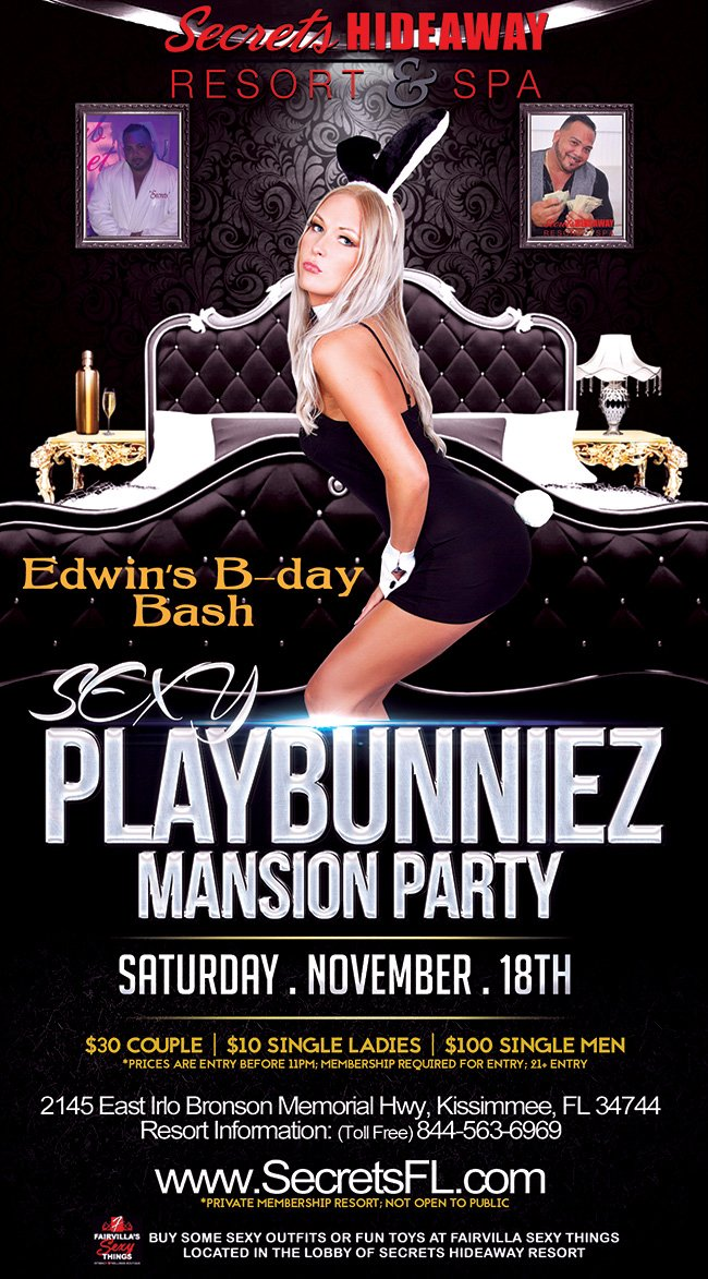 Events - Playbunniez Mansion Party Orlando, Florida Lifestyle and Swinger Parties